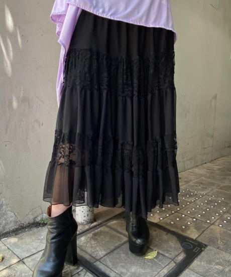 lace  frill  skirt