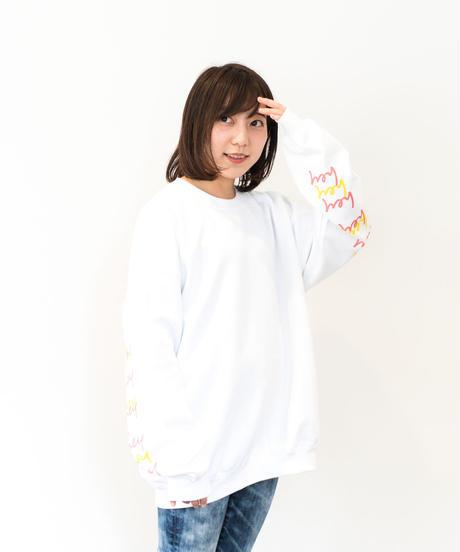 【ユニセックス】2020 SS hey スウェット(White & Pink)