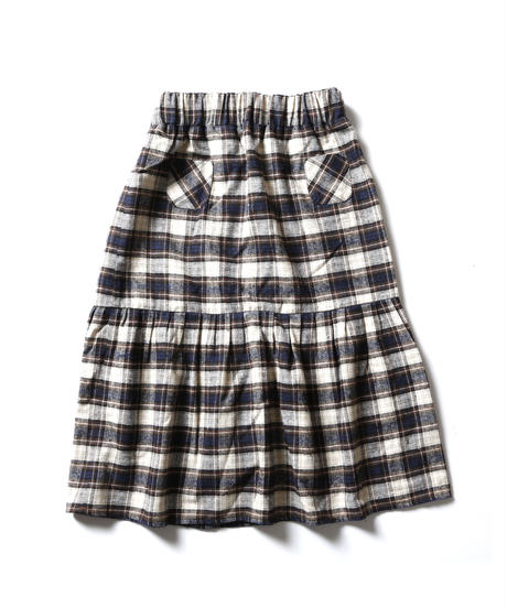 checked skirt チェック フロントポケットスカート