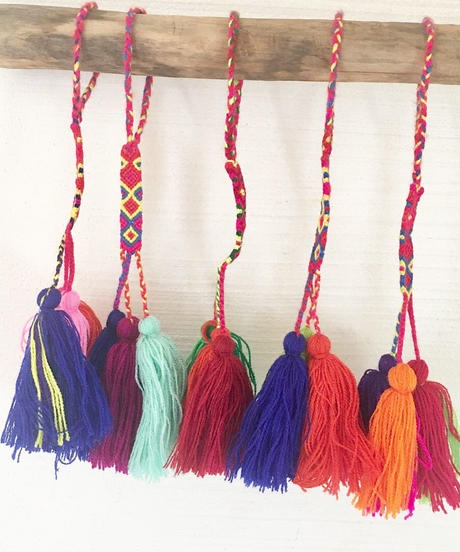 カラフル 3タッセル COLORFUL3TASSELS  POMPOMS(A to E)