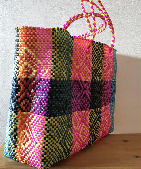 L sizeMexican Plastic Tote bag メキシカントートバッグ