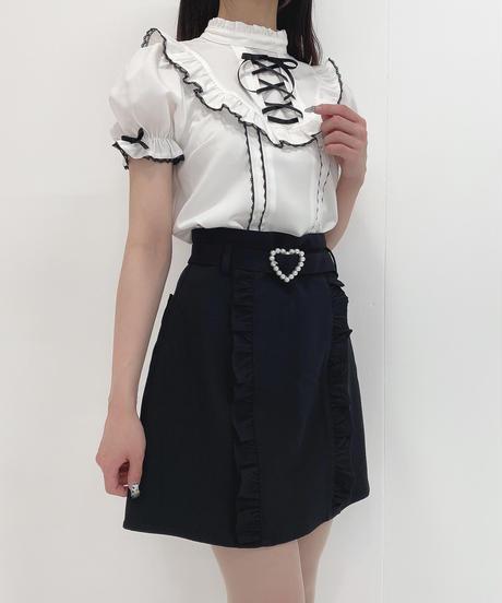HC212SK0414 パールハートバックル台形スカート