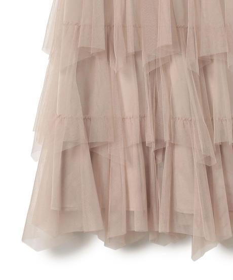 201SK0102<Mieux> チュールティアードスカート