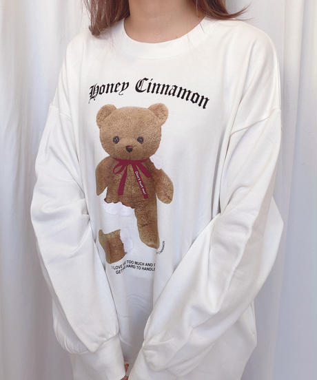 204CS1086<unisex>  missing leg cinnamonスウェット