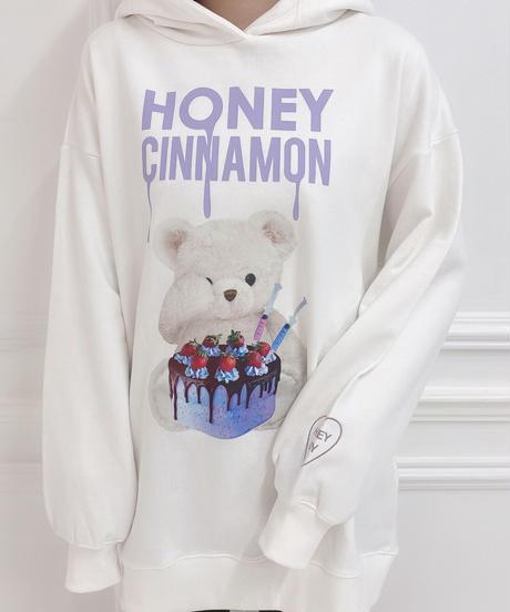 HC211CS0222<unisex> POISON cake シナモンパーカー