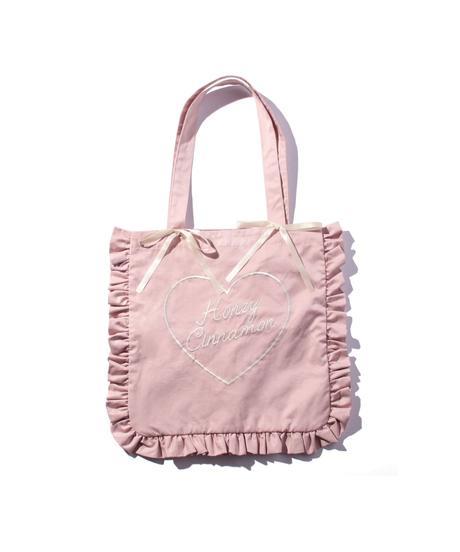 201BC0201 ロゴ刺繍フリルトートバッグ