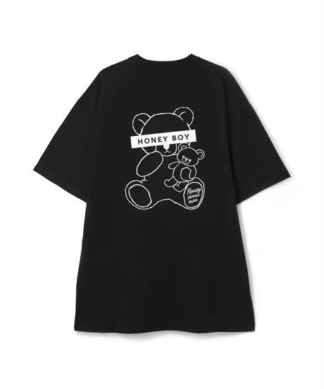 HC212CS0434<unisex> 総刺繍HugシナモンTシャツ