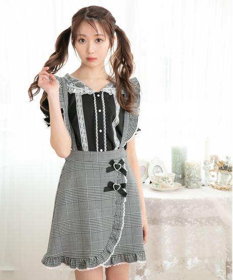 HC212SK0519 ダブルリボンサス付きスカート