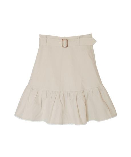 192SK0408 千鳥柄裾切り替えスカート