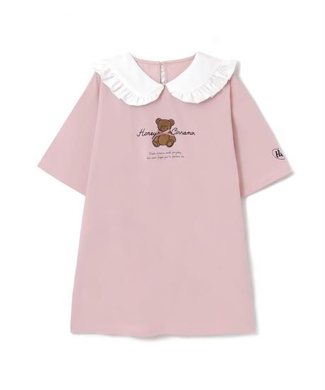 HC212CS0432 サガラ刺繍丸衿Tシャツ