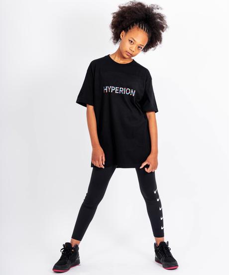 フラワーロゴ Tシャツ ブラック