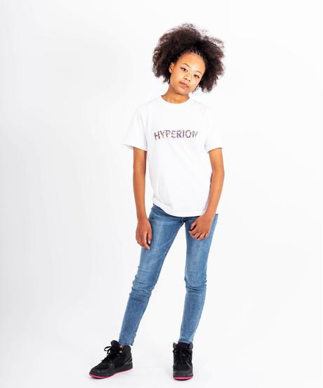 フラワーロゴ Tシャツ ホワイト