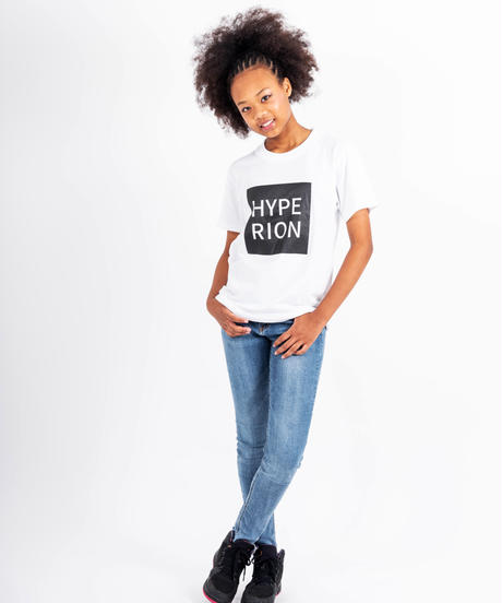 スクエアロゴ Tシャツ ホワイト