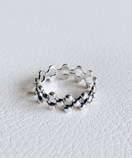 dot silver ring S-003