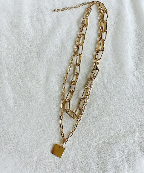 gold chain necklace H110