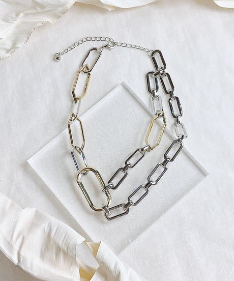bicolor necklace M117
