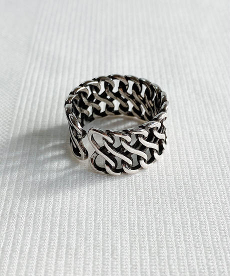 silver ring P107
