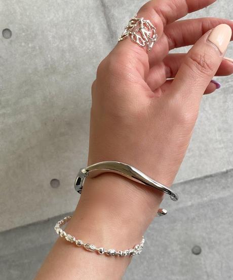 silver beads chain bracelet F214