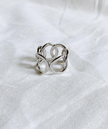 silver ring H108
