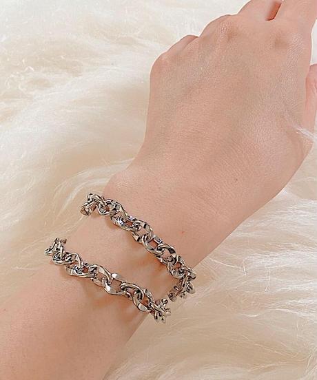 silver chain bracelet G205