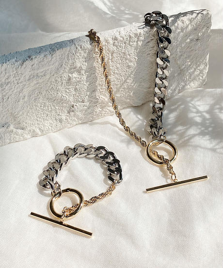 mix chain necklace B117