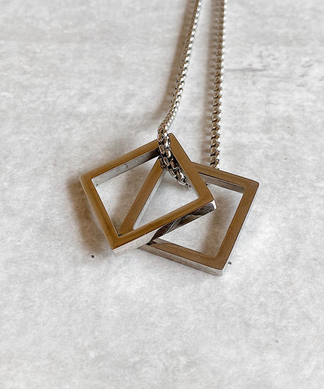 square  charm necklace G218