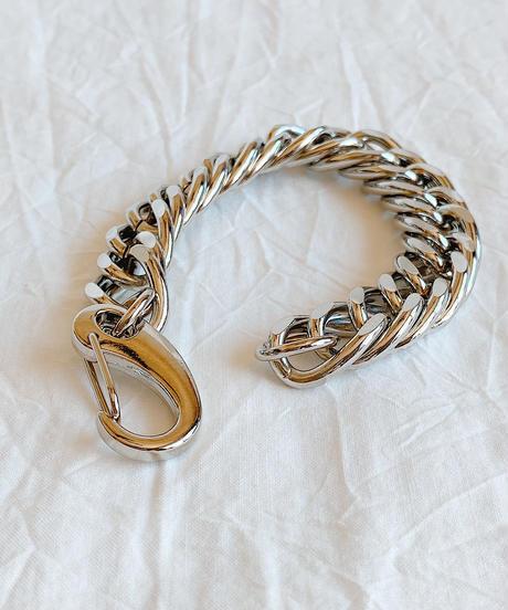 silver chain bracelet H204