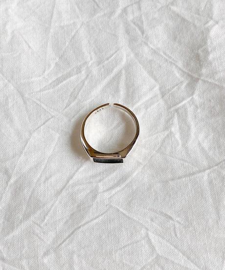 silver black ring K211