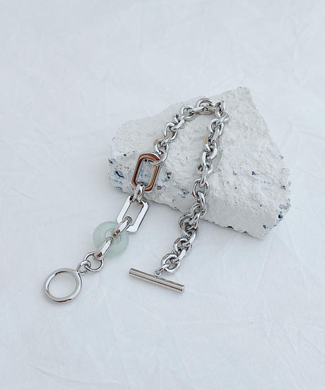 silver chain bracelet H212/celestite