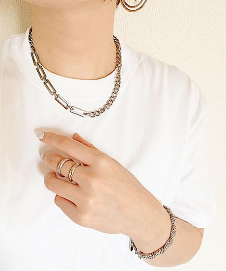 mix chain necklace G216