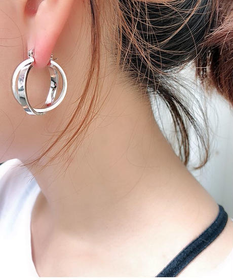 twist hoop pierce I-012