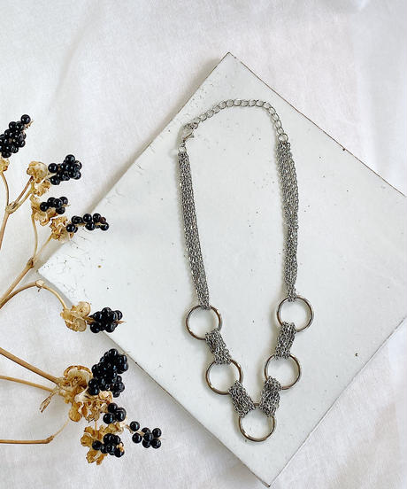 chain hoop necklace J106