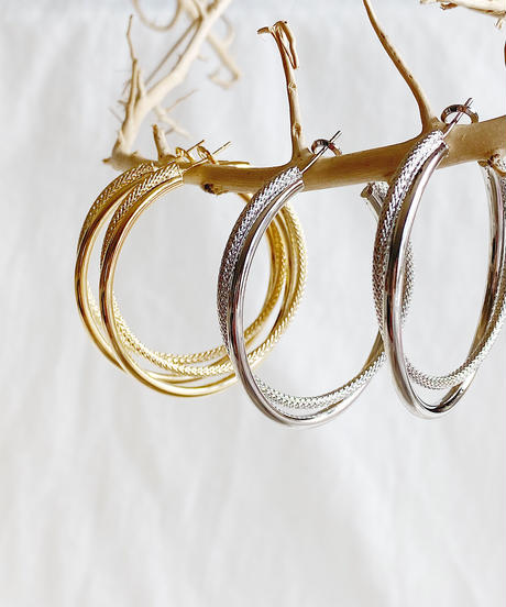double hoop pierce G215