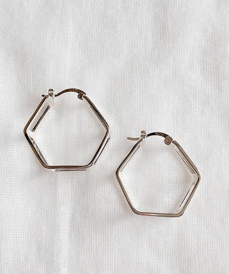 hexagon hoop pierce E205