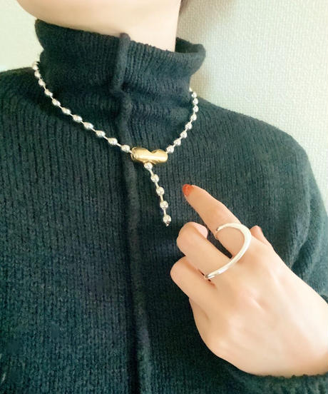 metal ball chain necklace P111