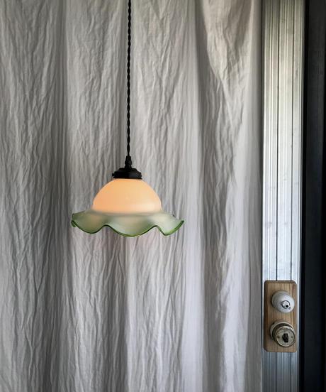 フリルガラスのペンダント照明