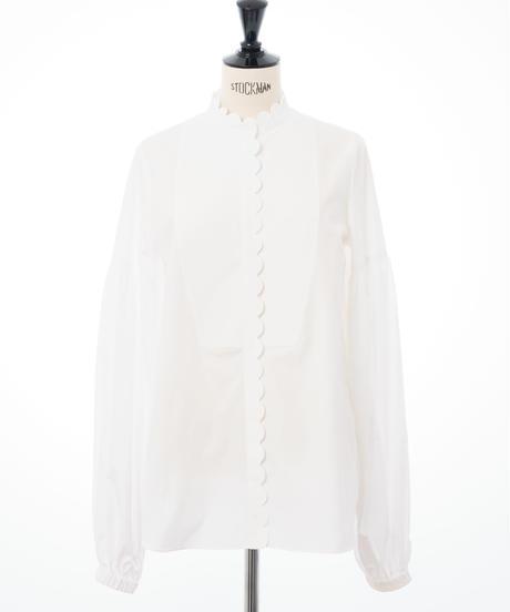 Puff Sleeve Scallop Shirt