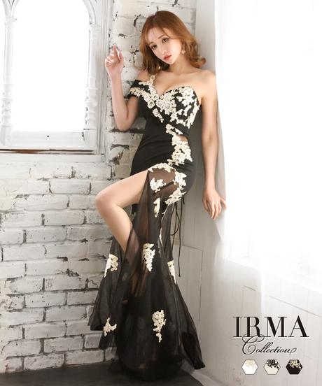【IRMA】ワンショル/レースシアー/LongDress【11933】