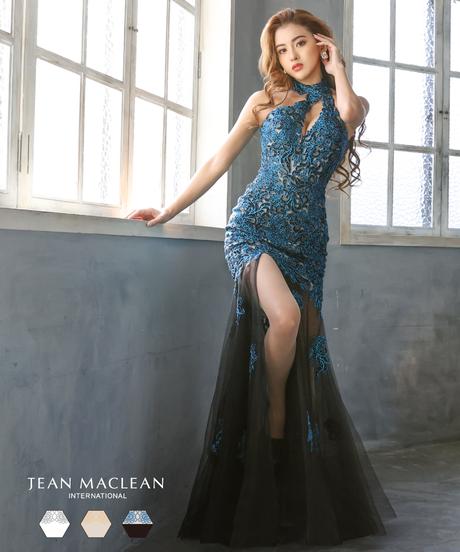 【JEAN MACLEAN】ラメレース/ホルター/LongDress【11906】