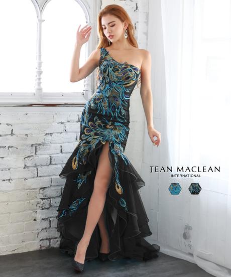 【JEAN MACLEAN】ワンショル/レースモチーフ付き/LongDress【11996】