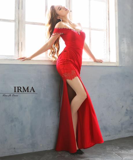 【IRMA】ワンカラー/オフショル/LongDress【11894】