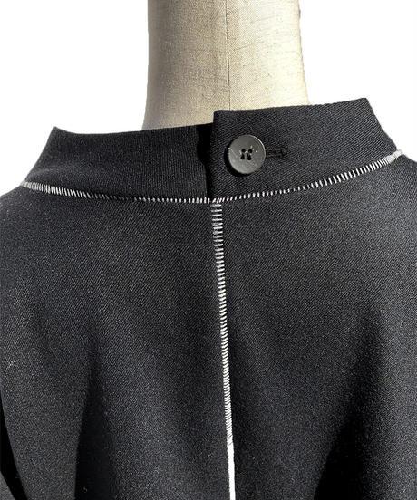 柵ウール縫合ワンピース