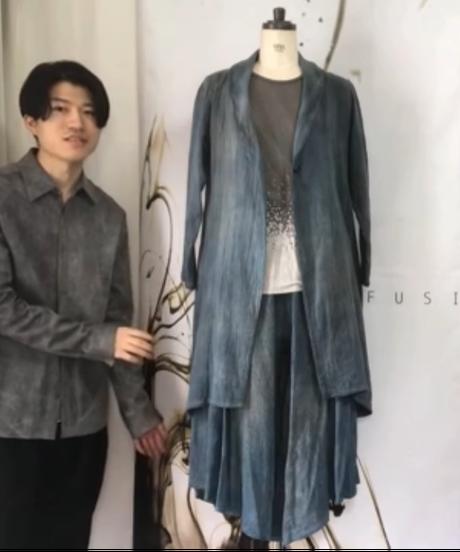 藍墨 -aizumi- ダブルガーゼコート