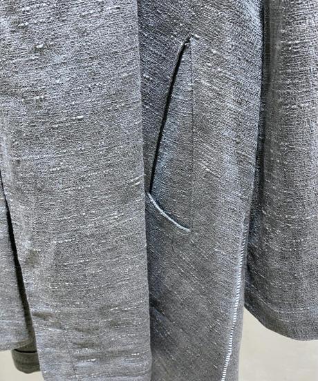 斑糸縫合メンズショールカーディガン