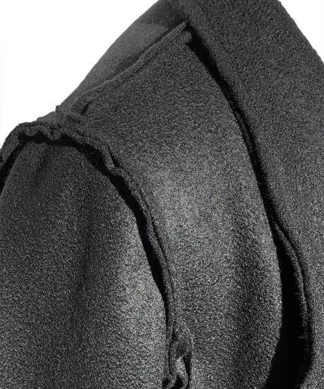 縫代ダブルショートコート