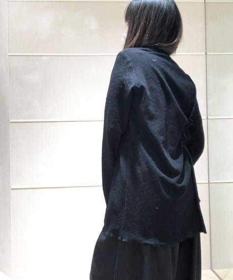 黒 レイヤードカットソー