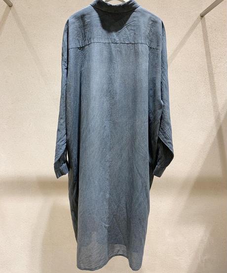藍墨ロングドロップシャツ