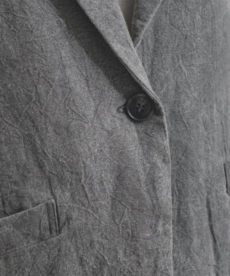 シワ加工七分袖ジャケット