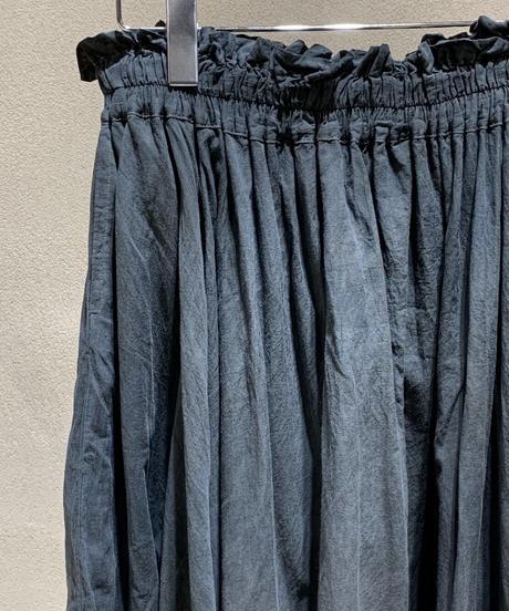 藍墨シャーリングスカート