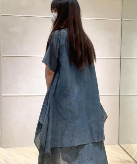 藍墨 東雲ワンピース半袖